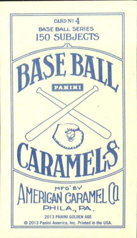 2013 Panini Golden Age Mini American Caramel Blue Back #4 Wyatt Earp back image
