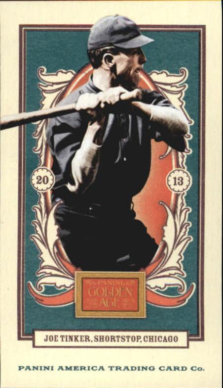 2013 Panini Golden Age Mini American Caramel Blue Back #7 Joe Tinker