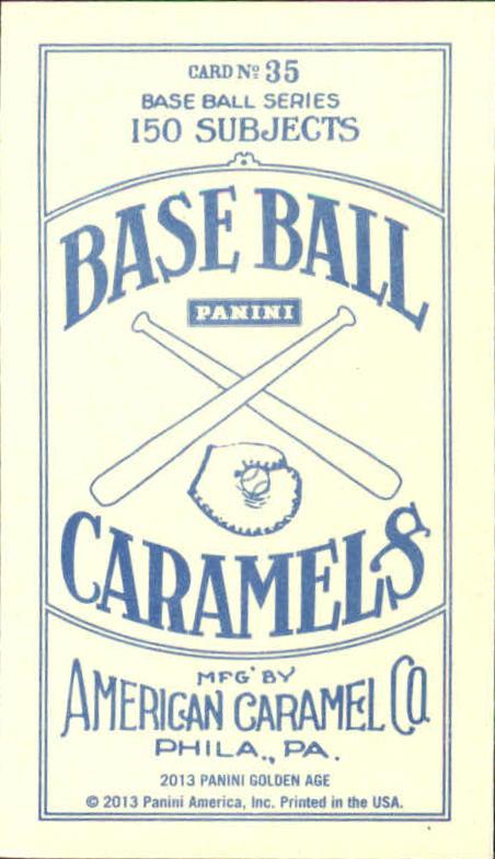 2013 Panini Golden Age Mini American Caramel Blue Back #35 Herbert Hoover back image