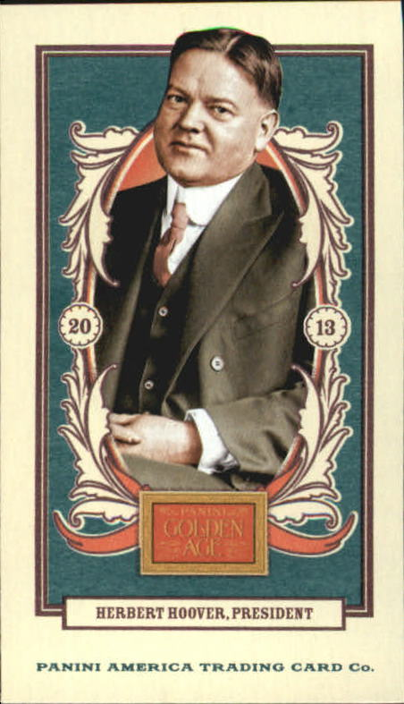 2013 Panini Golden Age Mini American Caramel Blue Back #35 Herbert Hoover