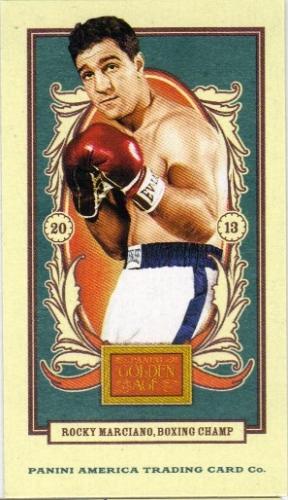 2013 Panini Golden Age Mini American Caramel Blue Back #43 Rocky Marciano