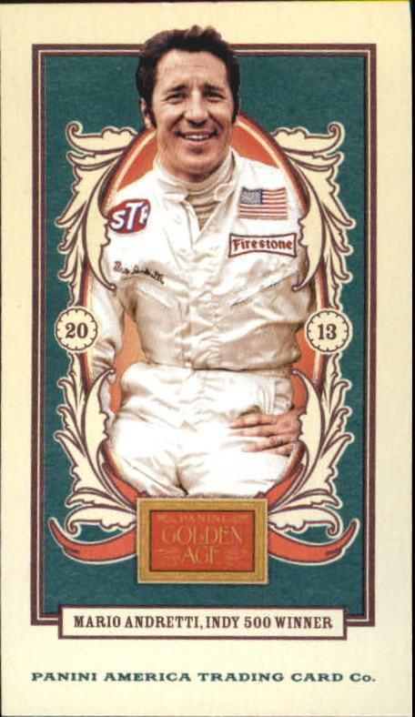 2013 Panini Golden Age Mini American Caramel Blue Back #75 Mario Andretti