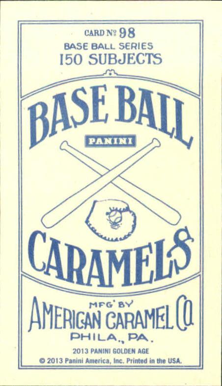 2013 Panini Golden Age Mini American Caramel Blue Back #98 Max Baer Jr. back image