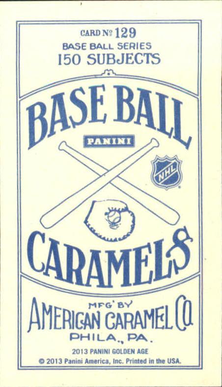 2013 Panini Golden Age Mini American Caramel Blue Back #129 Bobby Hull back image