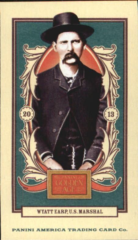 2013 Panini Golden Age Mini Carolina Brights Green Back #4 Wyatt Earp