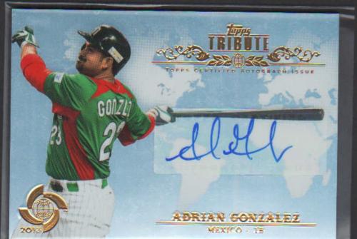 2013 Topps Tribute WBC Autographs #AG Adrian Gonzalez
