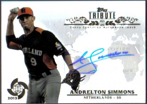 2013 Topps Tribute WBC Autographs #AS2 Andrelton Simmons