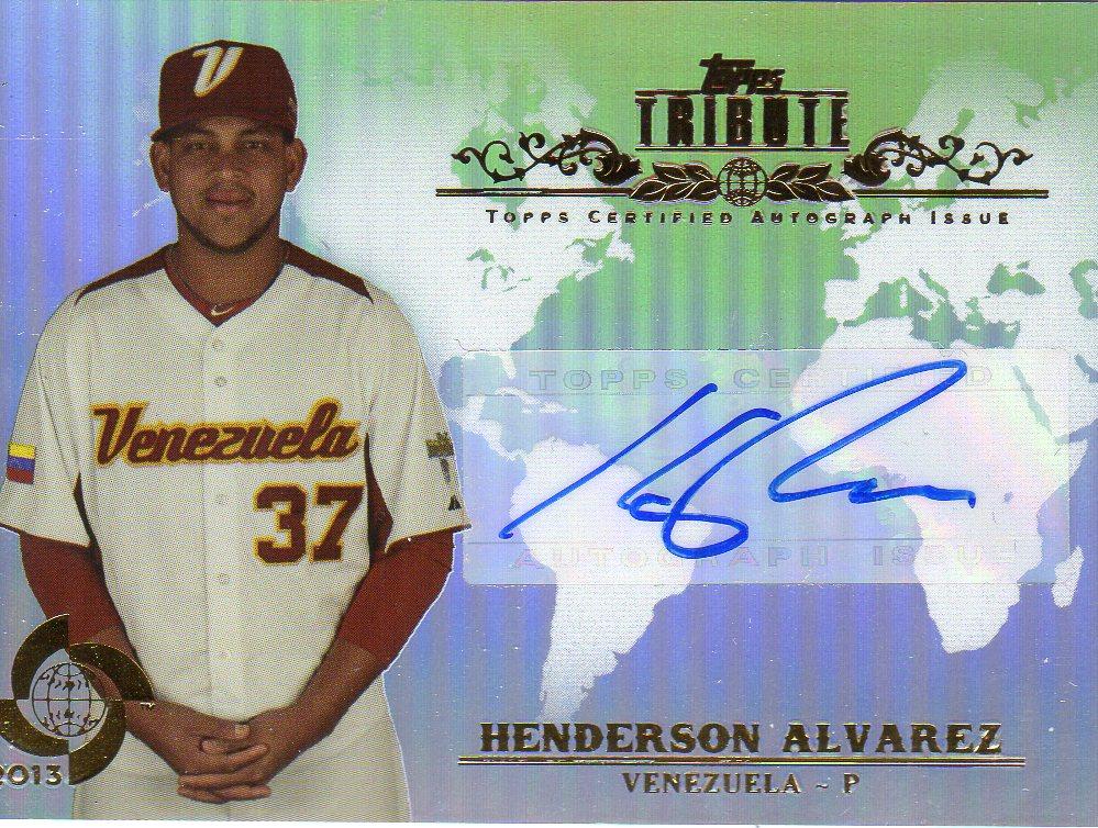 2013 Topps Tribute WBC Autographs #HA2 Henderson Alvarez
