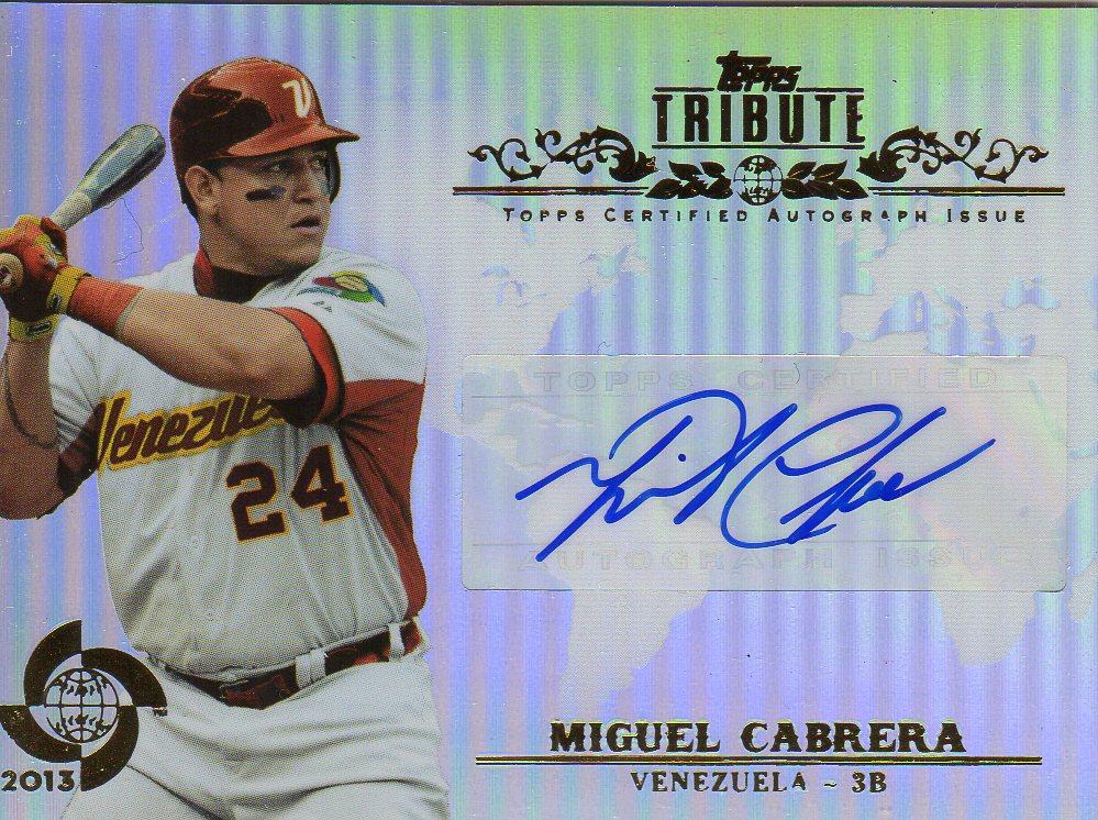 2013 Topps Tribute WBC Autographs #MC Miguel Cabrera