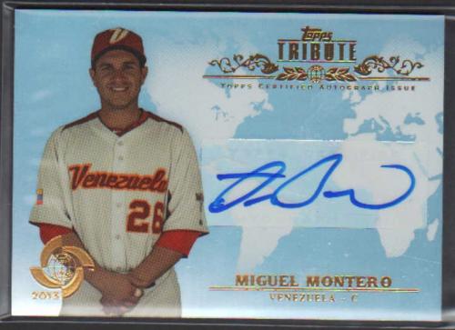 2013 Topps Tribute WBC Autographs #MM Miguel Montero