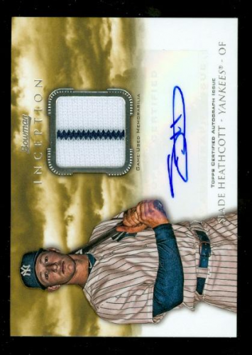 2013 Bowman Inception Relic Autographs #SH Slade Heathcott