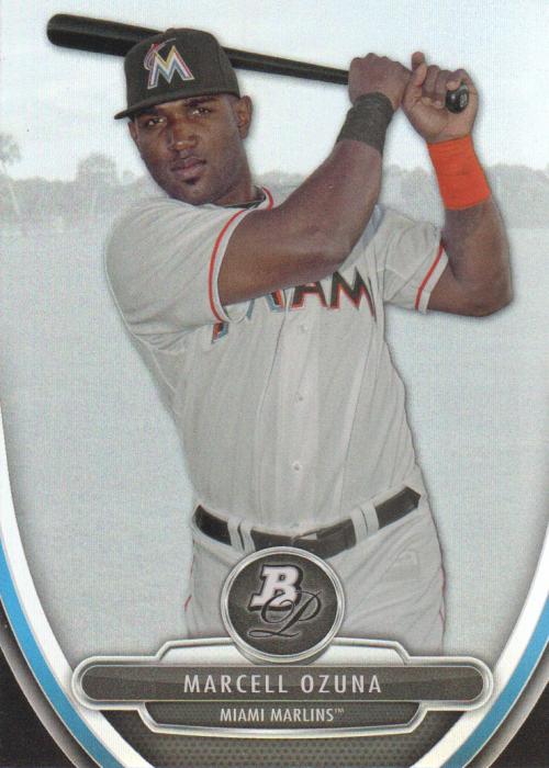 2013 Bowman Platinum Prospects #BPP90 Marcell Ozuna