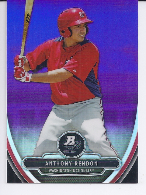 2013 Bowman Platinum Chrome Prospects Purple Refractors #BPCP25 Anthony Rendon