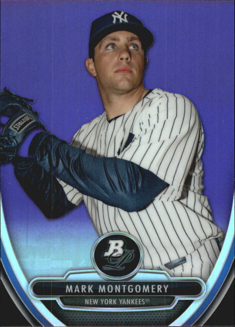 2013 Bowman Platinum Chrome Prospects Purple Refractors #BPCP88 Mark Montgomery
