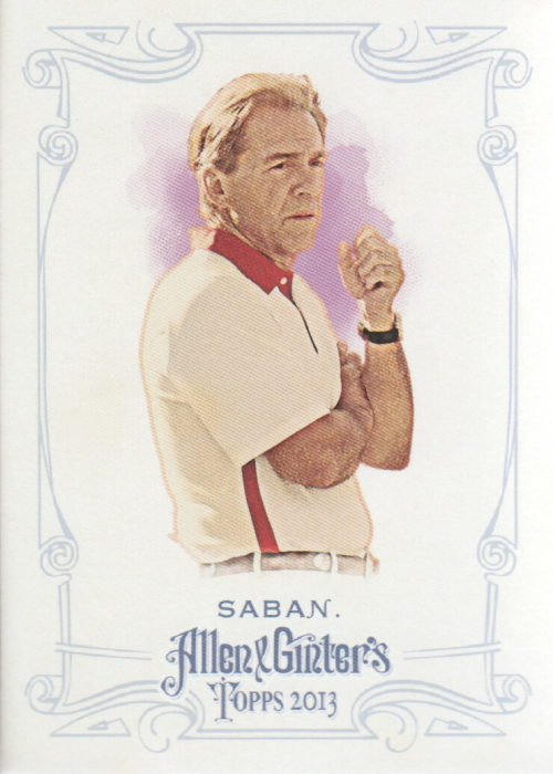 2013 Topps Allen and Ginter #244 Nick Saban