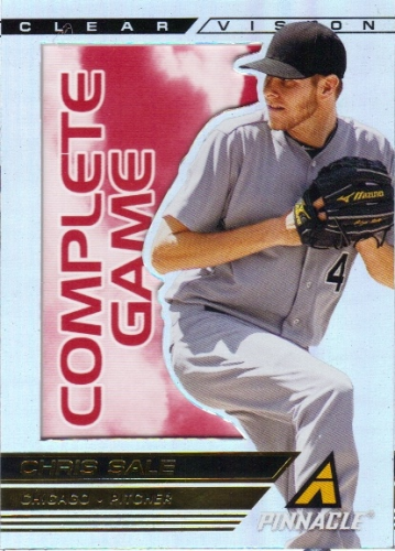 2013 Pinnacle Clear Vision Pitching Complete Game #16 Chris Sale