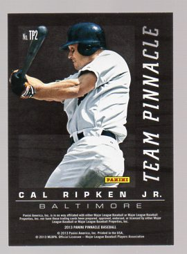 2013 Pinnacle Team Pinnacle #2B Derek Jeter/Cal Ripken Jr. back image