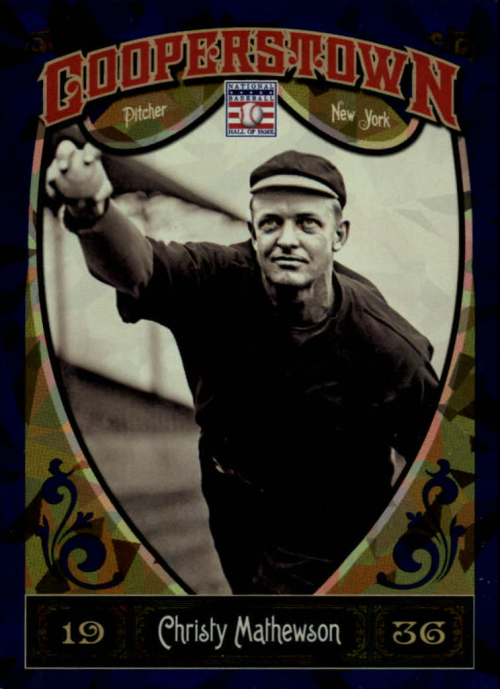 2013 Panini Cooperstown Blue Crystal #4 Christy Mathewson