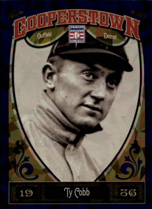 2013 Panini Cooperstown Blue Crystal #5 Ty Cobb