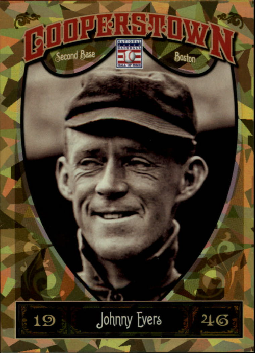 2013 Panini Cooperstown Gold Crystal #9 Johnny Evers