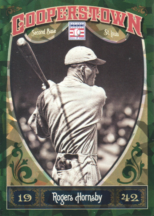 2013 Panini Cooperstown Green Crystal #6 Rogers Hornsby