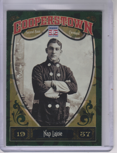 2013 Panini Cooperstown Green Crystal #19 Nap Lajoie