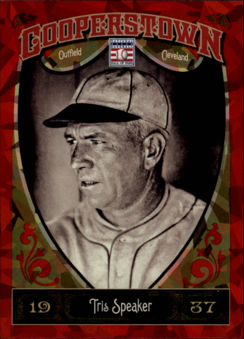2013 Panini Cooperstown Red Crystal #3 Tris Speaker