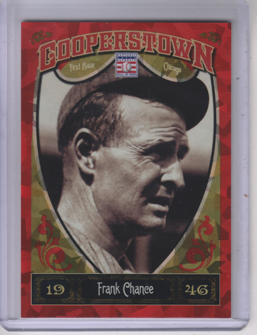 2013 Panini Cooperstown Red Crystal #10 Frank Chance