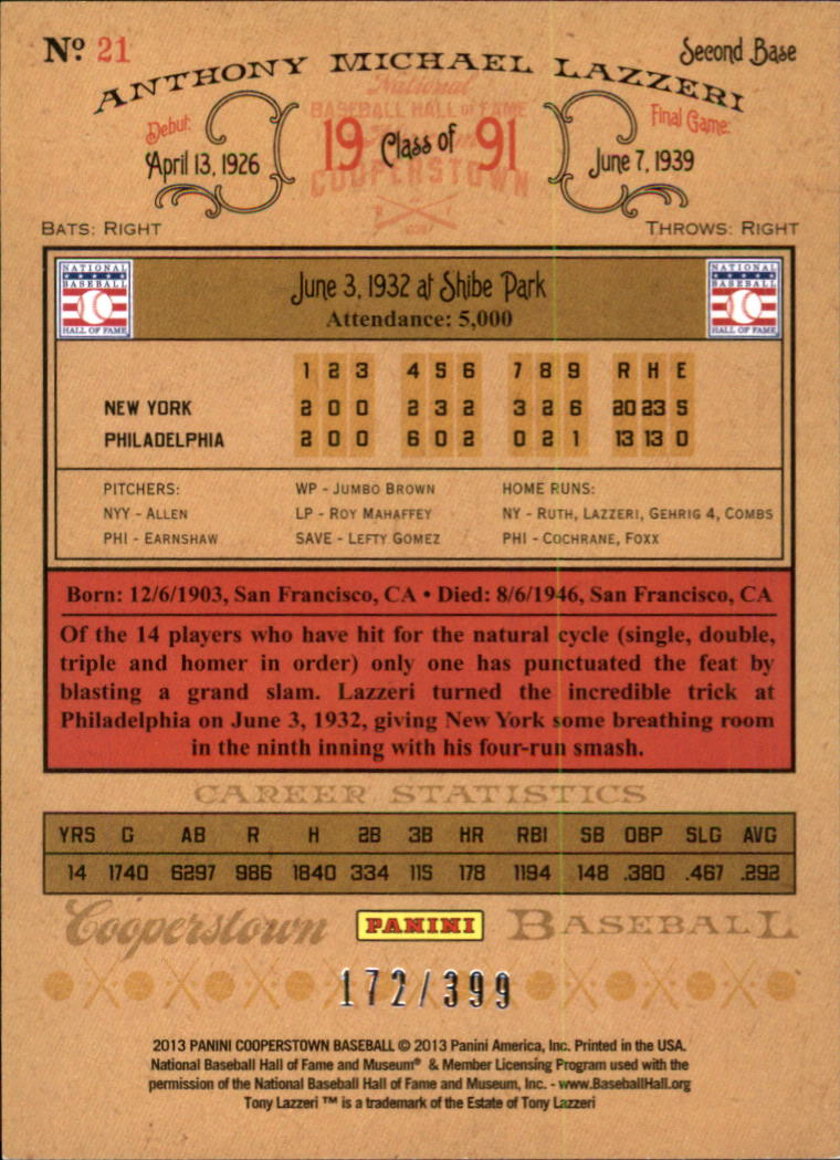 2013 Panini Cooperstown Red Crystal #14 Honus Wagner back image