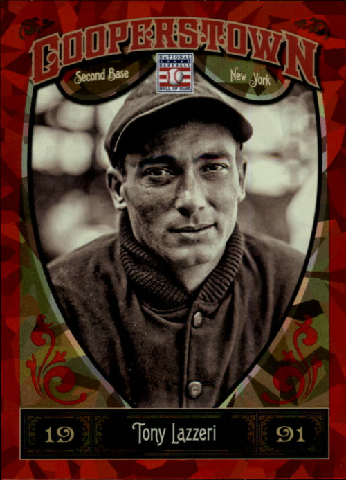2013 Panini Cooperstown Red Crystal #21 Tony Lazzeri