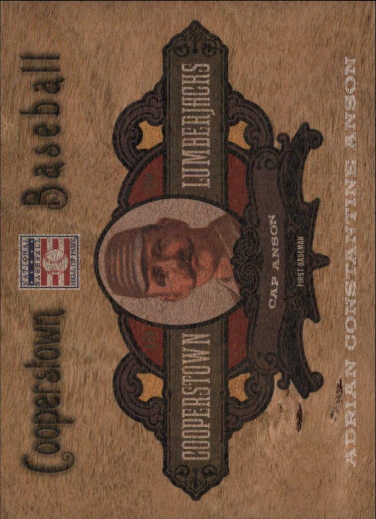 2013 Panini Cooperstown Lumberjacks #1 Cap Anson