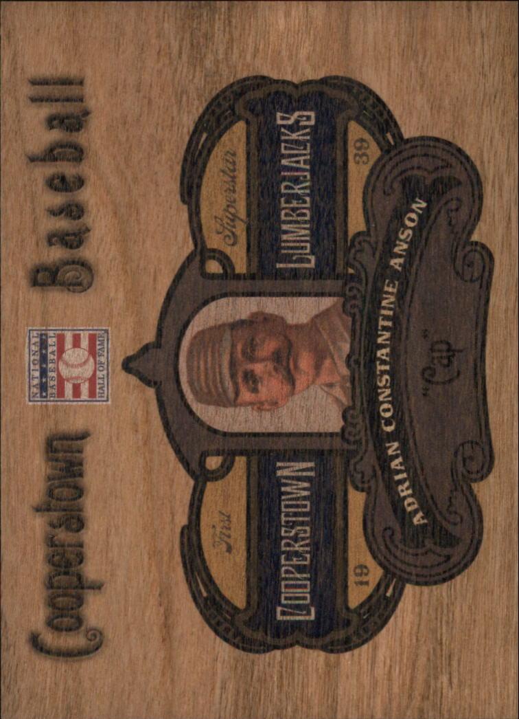 2013 Panini Cooperstown Lumberjacks #3 Cap Anson