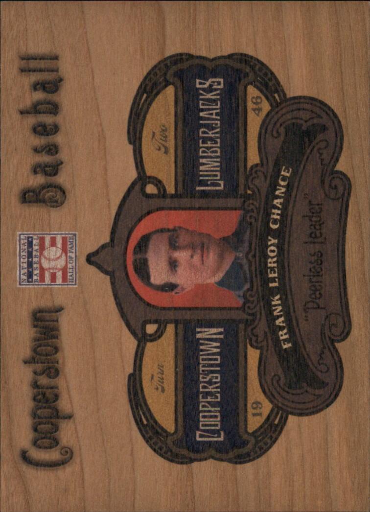 2013 Panini Cooperstown Lumberjacks #15 Frank Chance