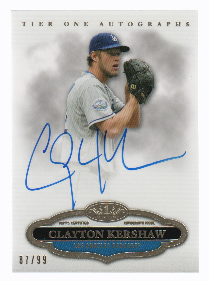 2013 Topps Tier One Autographs #CK Clayton Kershaw/90