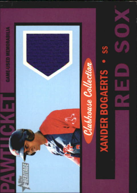 2013 Topps Heritage Minors Clubhouse Collection Relics Black #XB Xander Bogaerts