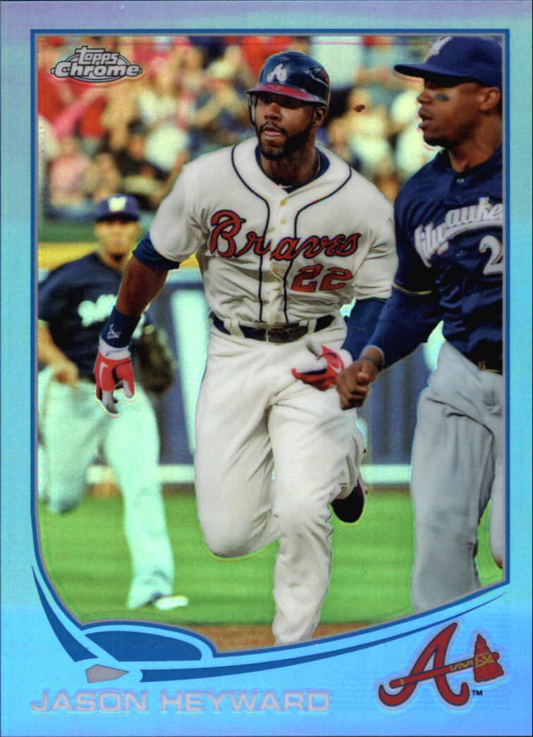 2013 Topps Chrome Blue Refractors #6 Jason Heyward