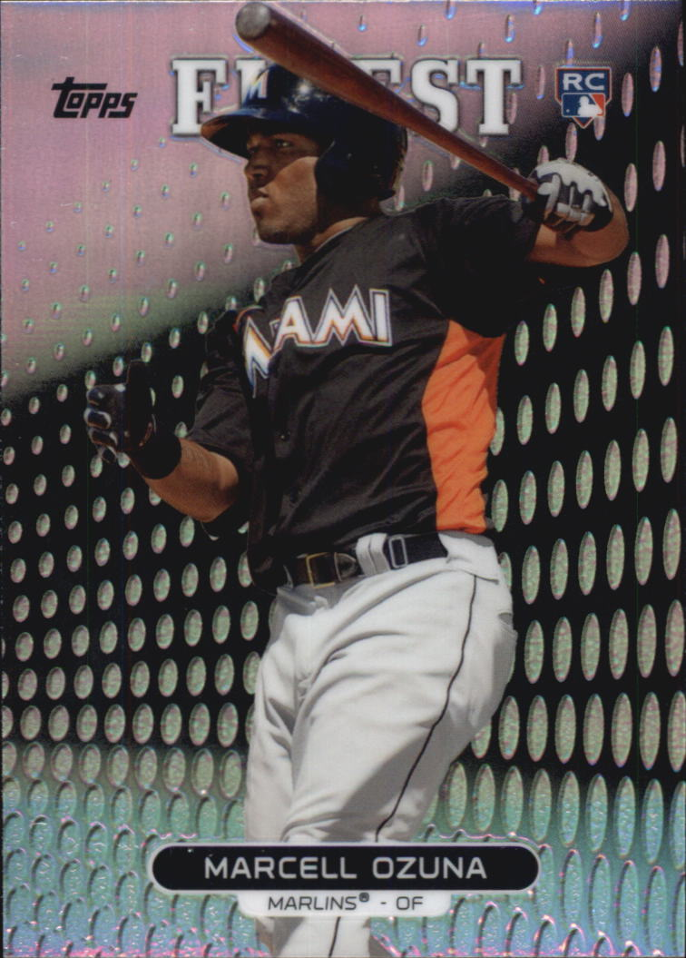 2013 Finest Refractors #58 Marcell Ozuna