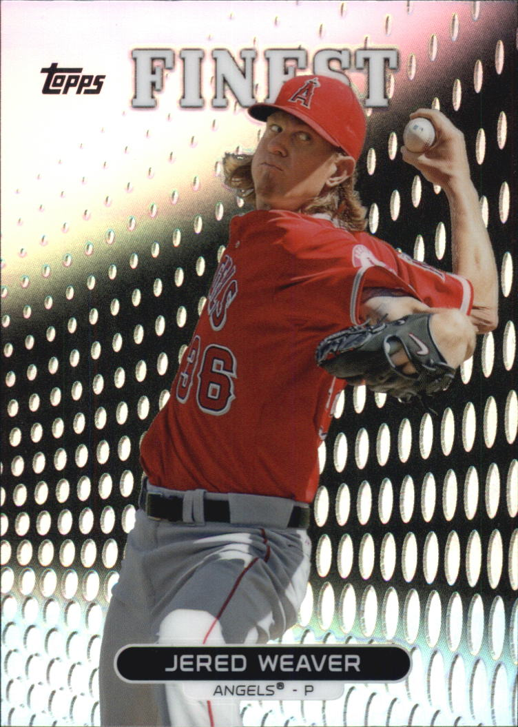 2013 Finest Refractors #63 Jered Weaver