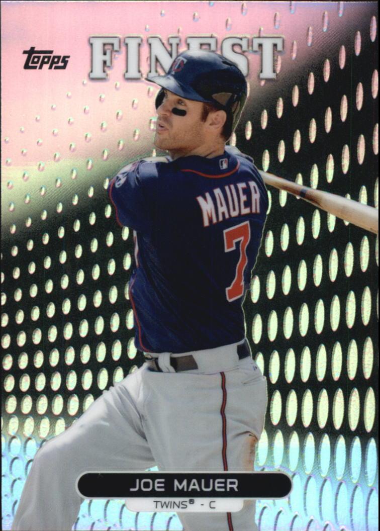 2013 Finest Refractors #67 Joe Mauer