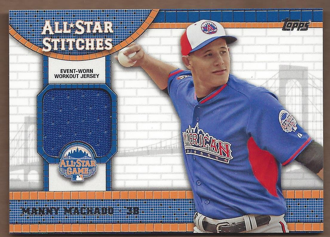 2013 Topps Update All Star Stitches #MM Manny Machado