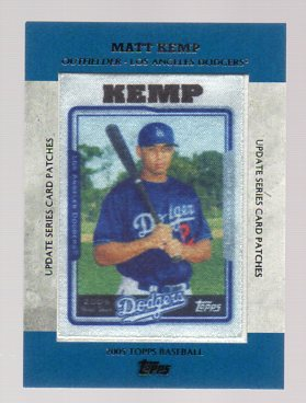 2013 Topps Update Rookie Commemorative Patches #10 Matt Kemp