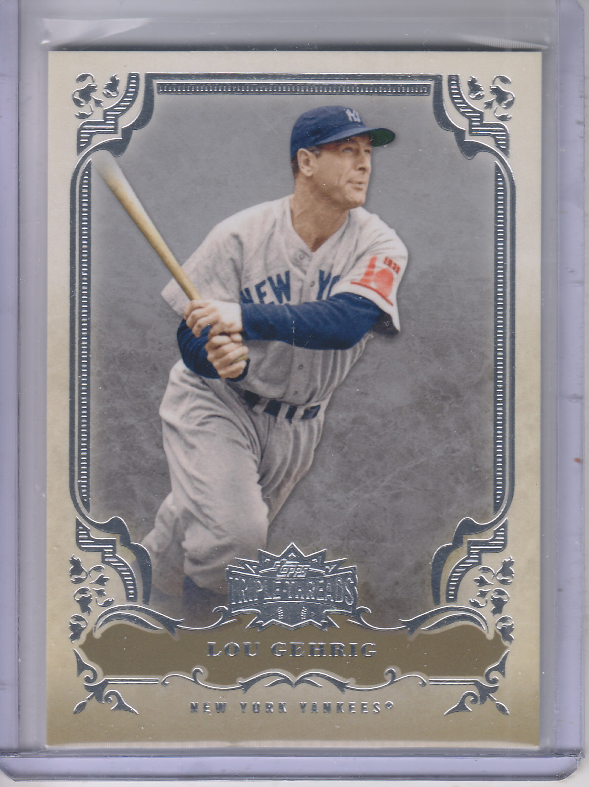 2013 Topps Triple Threads #4 Lou Gehrig