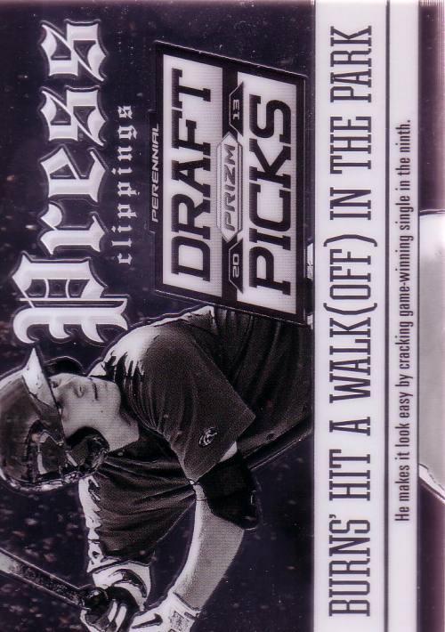 2013 Panini Prizm Perennial Draft Picks Press Clippings #15 Andy Burns