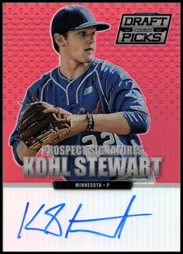 2013 Panini Prizm Perennial Draft Picks Prospect Signatures Red Prizms #4 Kohl Stewart