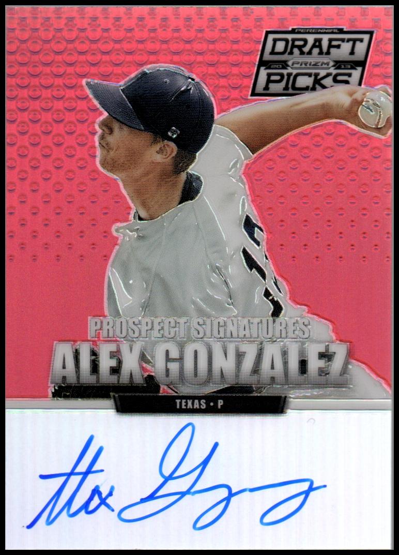 2013 Panini Prizm Perennial Draft Picks Prospect Signatures Red Prizms #24 Alex Gonzalez
