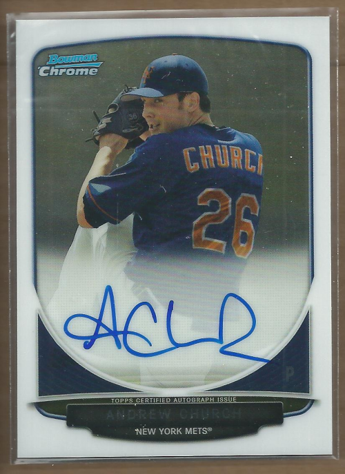 2013 Bowman Chrome Draft Draft Pick Autographs #AC Andrew Church