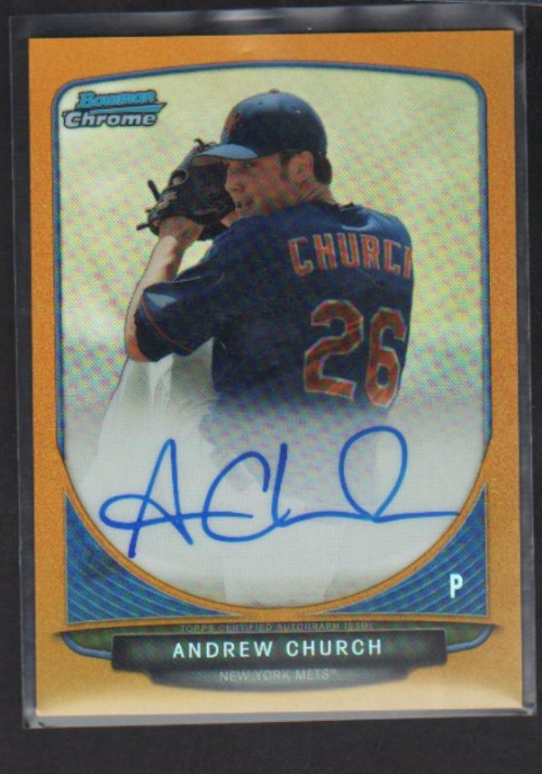 2013 Bowman Chrome Draft Draft Pick Autographs Gold Refractors #AC Andrew Church