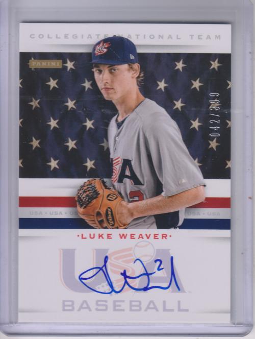 2013 USA Baseball Collegiate National Team Signatures #23 Luke Weaver