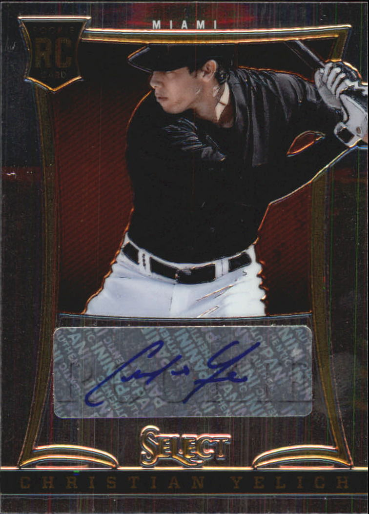 2013 Select #190 Christian Yelich AU/500 RC