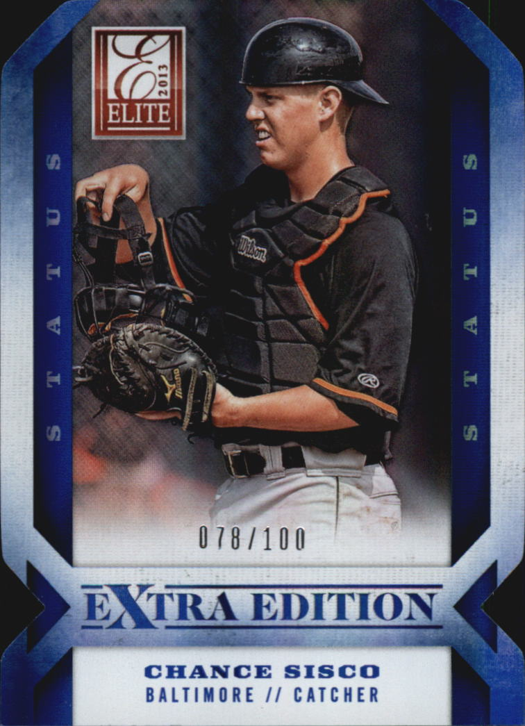 2013 Elite Extra Edition Signature Status Blue #19 Chance Sisco